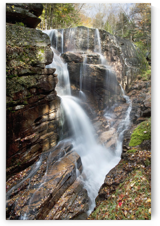 New England, New Hampshire, White Mountains, Sabbaday Falls, A forest waterfall. by PacificStock
