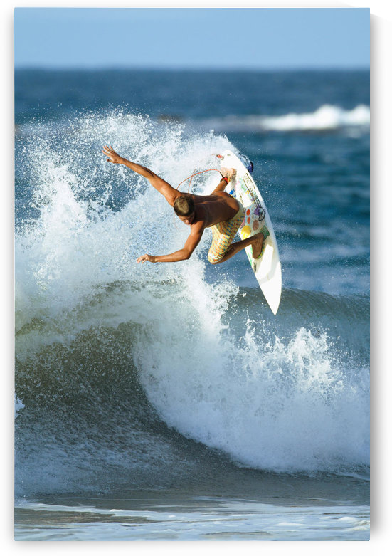 Hawaii, Maui, Kapalua, Professional surfer Albee Layer catches air on a wave. EDITORIAL USE ONLY. by PacificStock