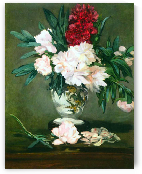 Still Life, Vase with Peonies by Manet by Manet