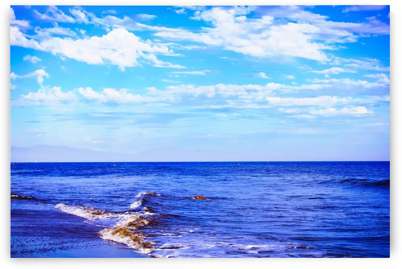 blue ocean view with blue cloudy sky in summer by TimmyLA