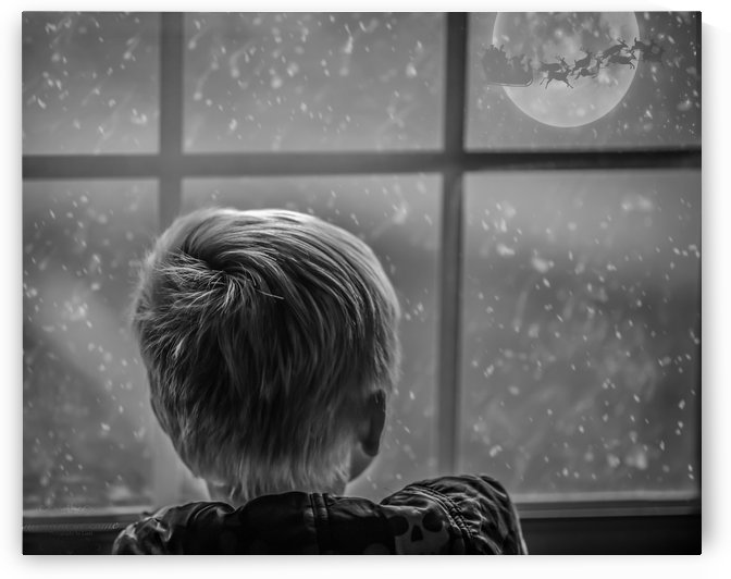 the boy that waits for santa by Christopher M Fry