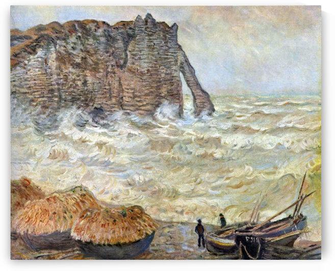 Stormy Sea (La Porte dAval) by Monet by Monet