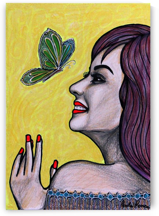 Perfil con mariposa Ori by Paula Valeria Fridman