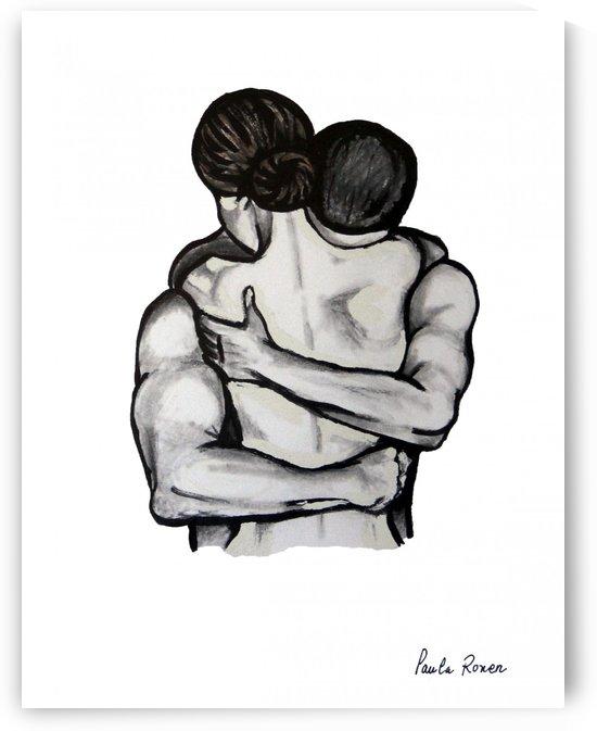 Abrazo blanco y negro Ori by Paula Valeria Fridman