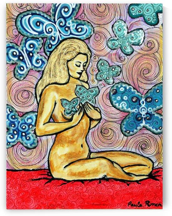 Desnudo con mariposas by Paula Valeria Fridman