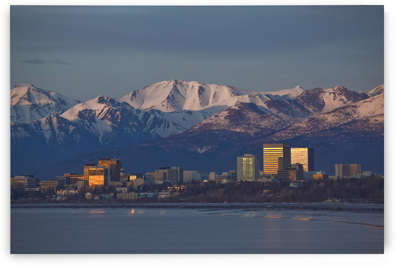 Downtown Anchorage Skyline, Spring, Southcentral Alaska by PacificStock