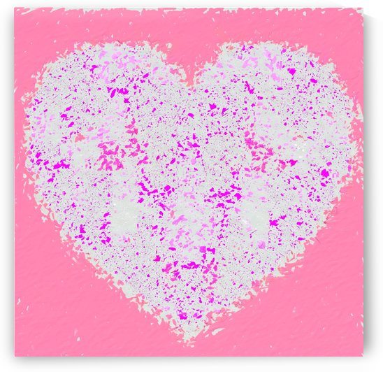 pink and white heart shape with pink background by TimmyLA
