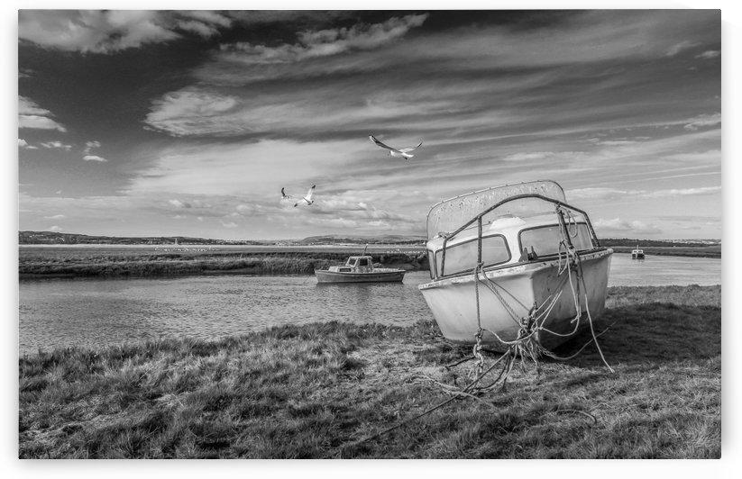 Loughor Estuary boats Wales by Steve Evans