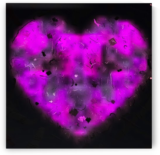 pink blurry heart shape with black background by TimmyLA