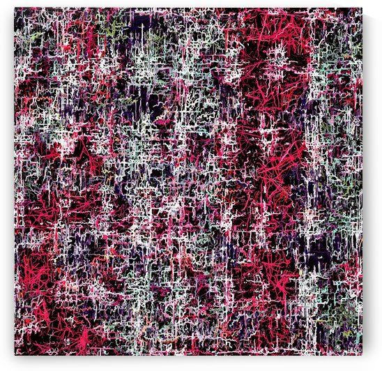 psychedelic abstract art pattern texture background in red pink black by TimmyLA