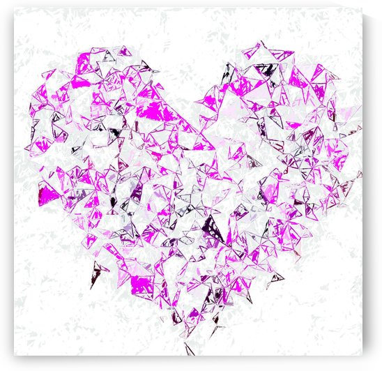 pink heart shape abstract with white abstract background by TimmyLA
