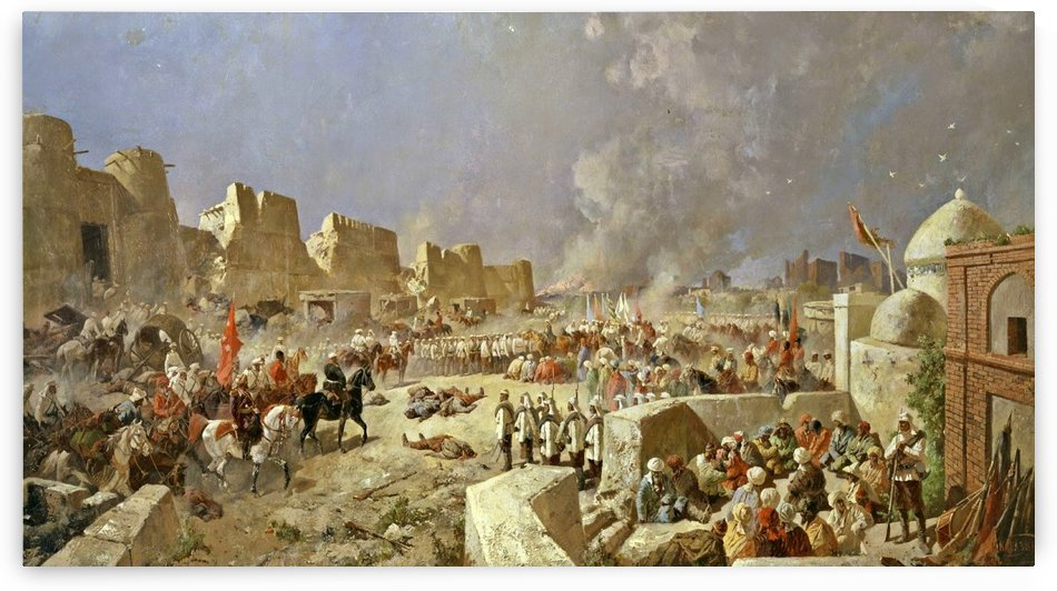 Russian troops taking Samarkand in 1868 by Nikolai Nikolaevich Karazin