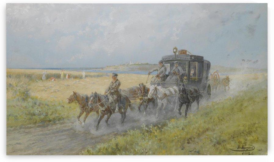 The coach by Nikolai Nikolaevich Karazin
