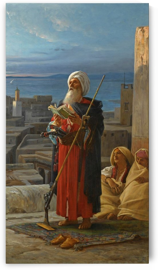 Evening prayer in Tangier by Jean Jules Antoine Lecomte du Nouy
