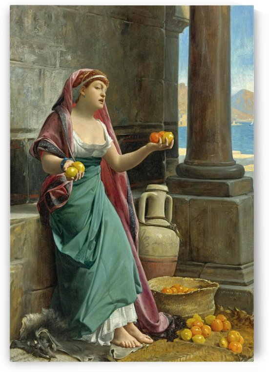 The citrus seller by Jean Jules Antoine Lecomte du Nouy