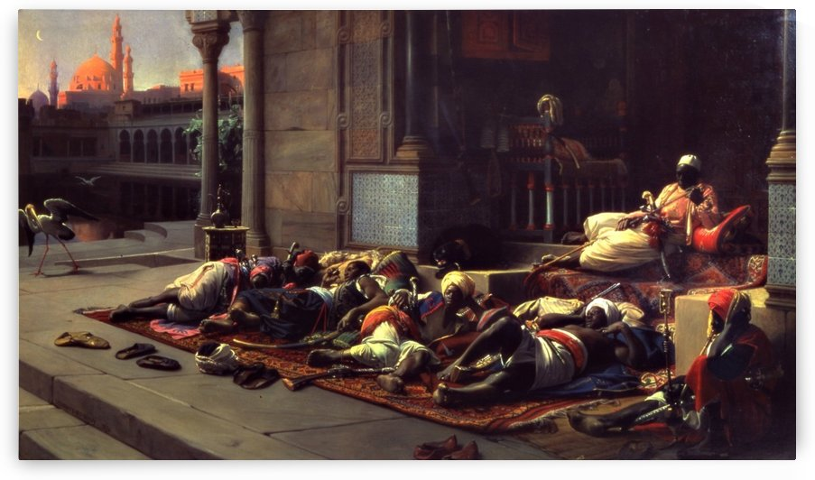 At the gate of the Harem by Jean Jules Antoine Lecomte du Nouy