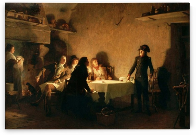 The supper of Beaucaire, 28 July 1793 by Jean Jules Antoine Lecomte du Nouy