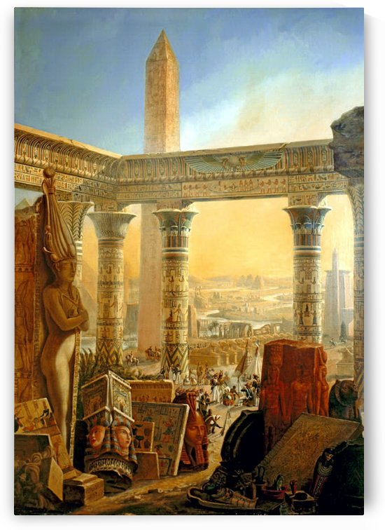 Monuments of Egypt, 1821 by Charles Louis Fleury Panckoucke