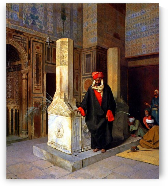 Prayer at the tomb by Ludwig Deutsch