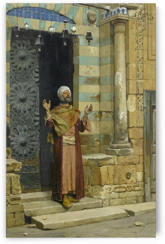 At the door of the mosque by Ludwig Deutsch