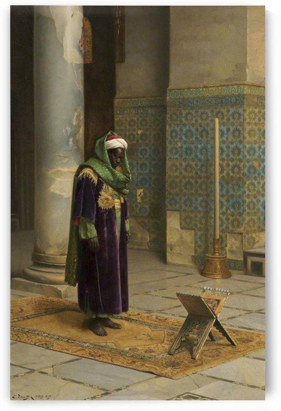 Moor at prayer in 1898 by Ludwig Deutsch