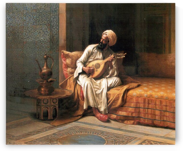 The mandolin player by Ludwig Deutsch