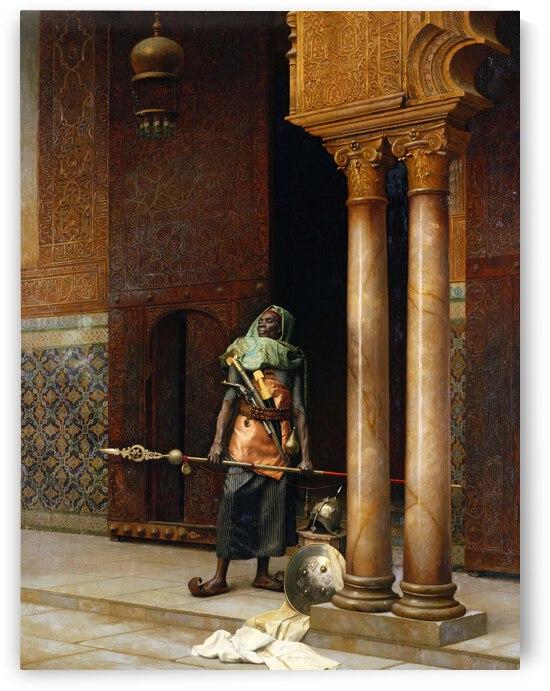 Nubian guard by Ludwig Deutsch
