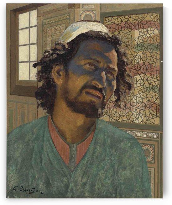 Portrait of an Arab man by Ludwig Deutsch