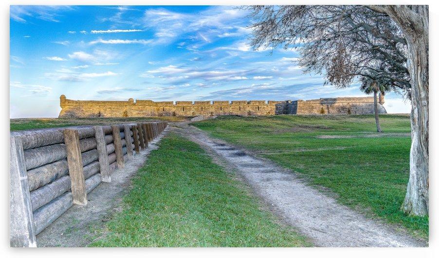 Castillo De San Marcos Landscape  by Melody Rossi