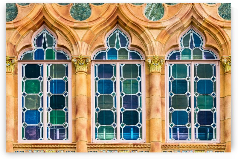 Ringling Mansion Stained Glass Windows by Melody Rossi