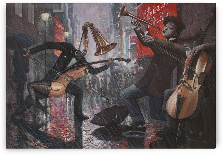 Life is a Dance in The Rain V by Adrian Borda
