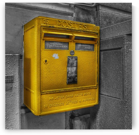 Old French Mailbox by BLAIS Photo
