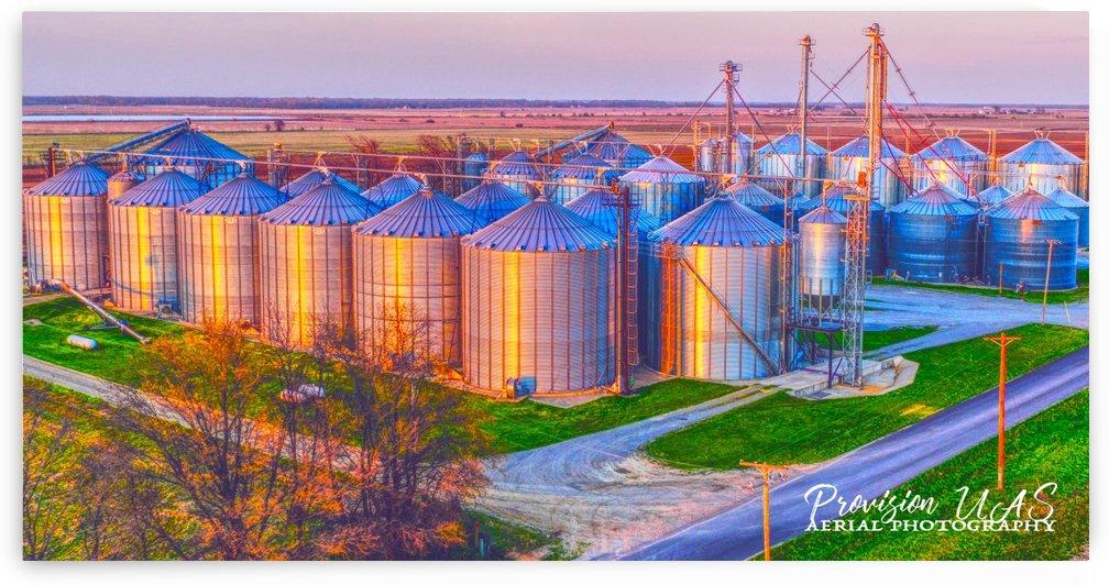 Carlisle, AR   Kittler Grain Bins  by Provision UAS