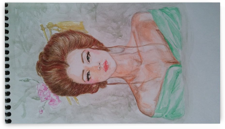 moderna geisha watercolor 2 by xarart
