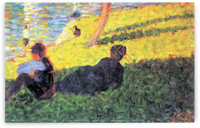 Sunday at the Grand Jatte, study 2 by Seurat by Seurat