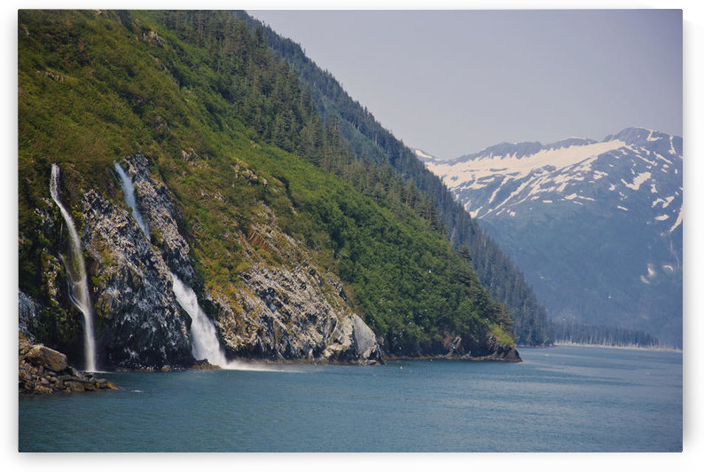 View Of Waterfalls In Passage Canal, Whittier, Southcentral Alaska, Summer by PacificStock