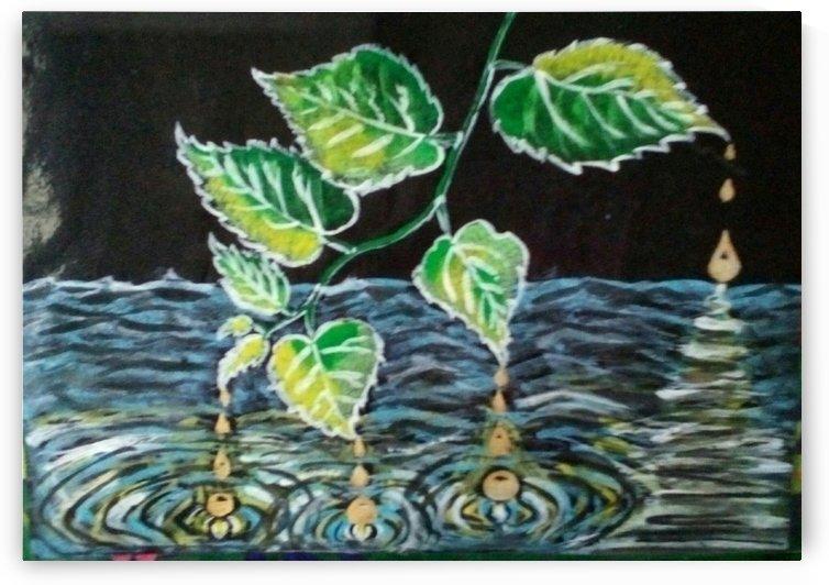 golden leaf by Raja Hussain