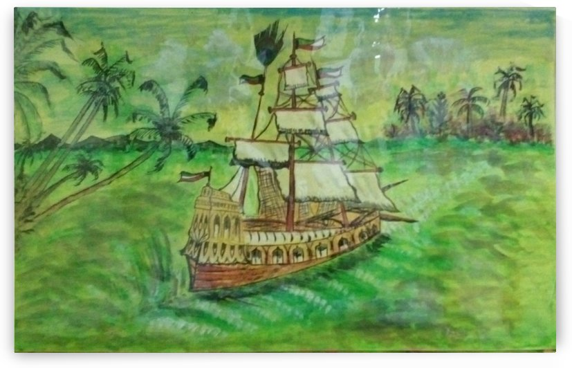 colored ship by Raja Hussain