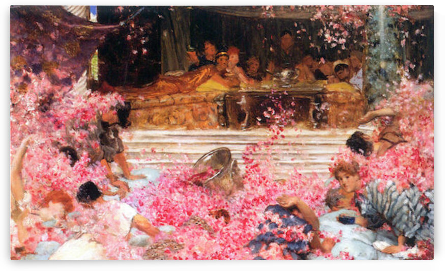 The roses of Heliogabalus by Alma-Tadema by Alma-Tadema