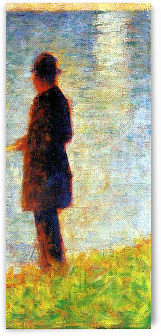 Sunday at the Grand Jatte, study of a fisherman by Seurat by Seurat