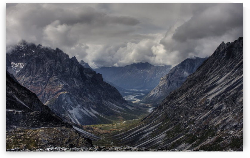 Aerial View Of Merrill Pass In The Alaska Range, Southcentral Alaska, Hdr Image by PacificStock