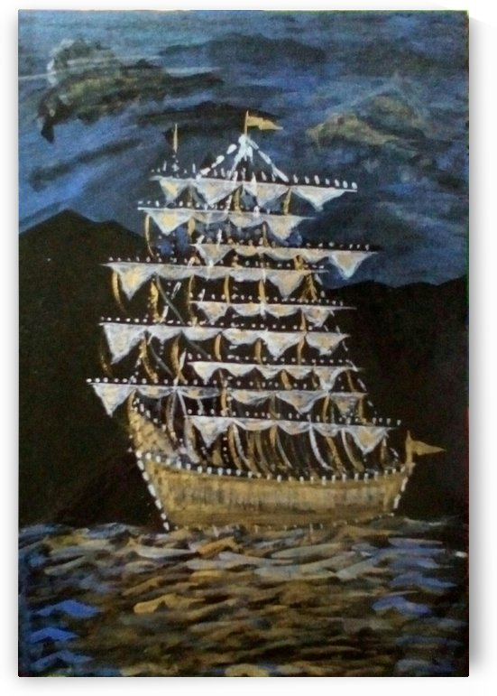 golden ship by Raja Hussain