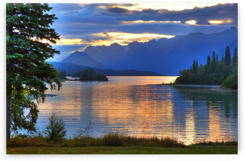 Sunrise On Lake Clark In Lake Clark National Park, Southcentral, Alaska, Hdr Image by PacificStock
