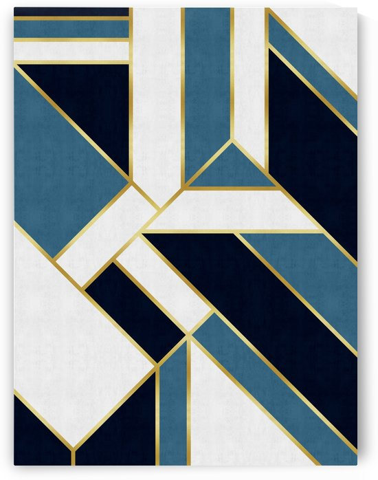 Blue and gold pattern by Vitor Costa