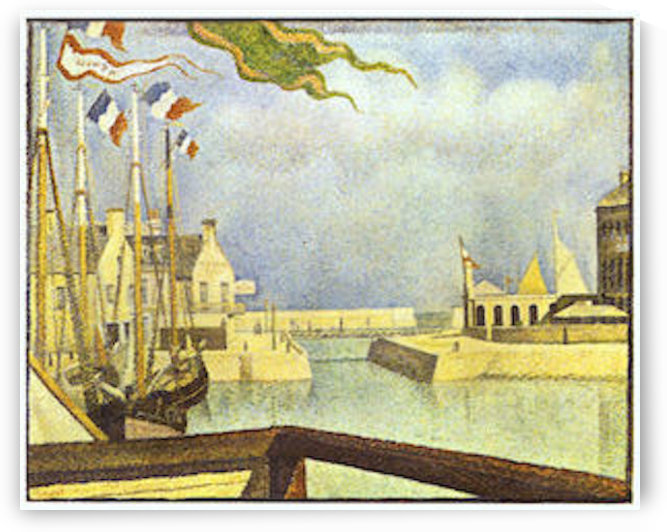 Sunday in Port-en-Bessin by Seurat by Seurat