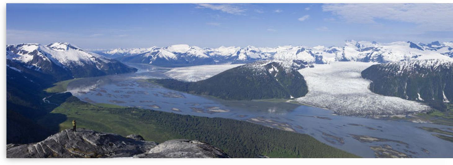 Aerial View Of Taku River, Taku Glacier And Hole In The Wall Glacier, Inside Passage Near Juneau, Alaska by PacificStock