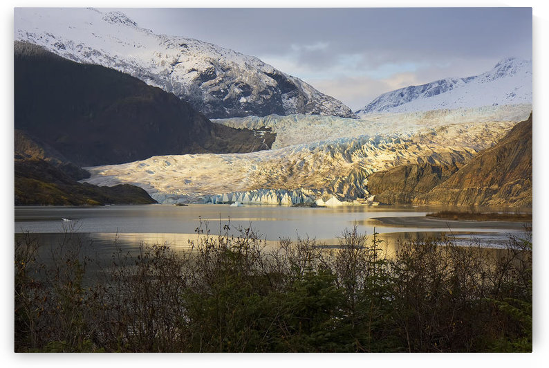 Scenic View Of Mendenhall Glacier Near Juneau, Alaska In Late Autumn, Hdr Image by PacificStock