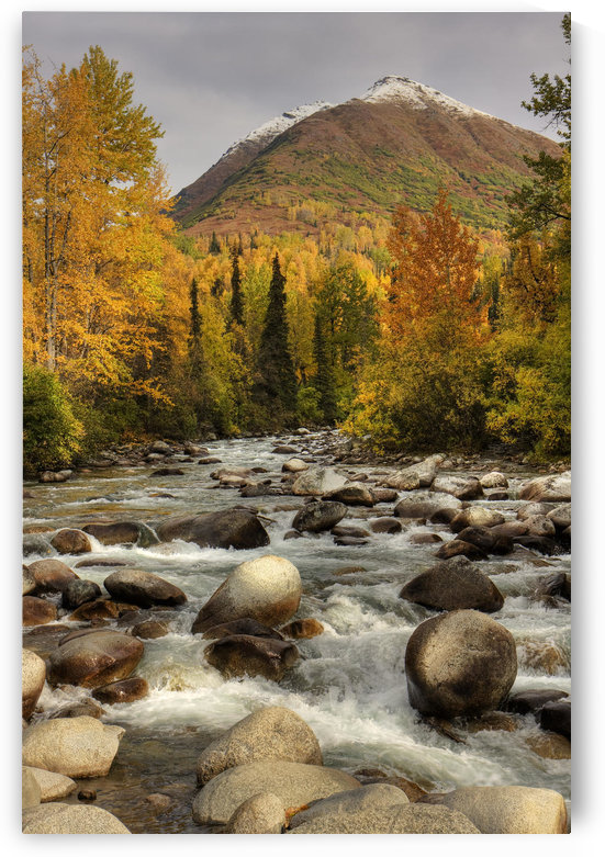 Scenic View Of The Little Susitna River At The Entrance To Hatcher Pass During Autumn In Southcentral Alaska, Hdr Image by PacificStock