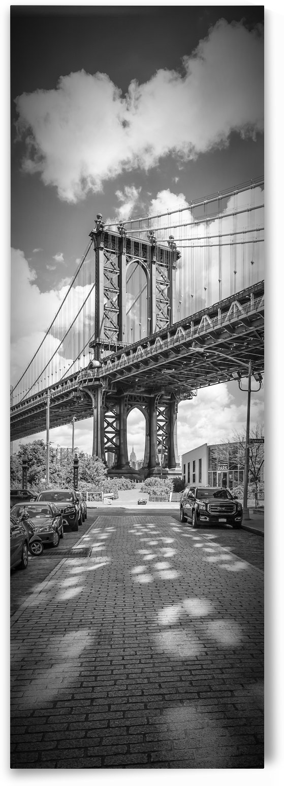 NEW YORK CITY Manhattan Bridge | Upright Panorama by Melanie Viola