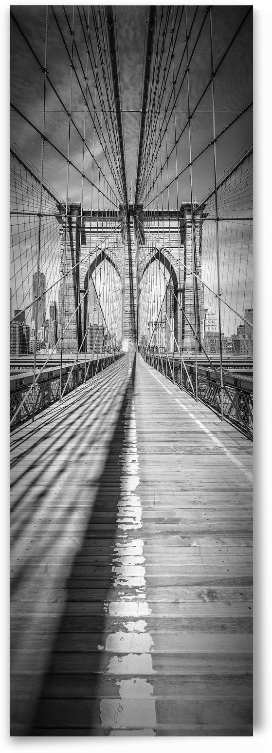 NEW YORK CITY Brooklyn Bridge | Upright Panorama by Melanie Viola
